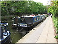 """TQ3183 : """"Buxton"""", narrowboat on Regent's Canal by Islington tunnel by David Hawgood"""