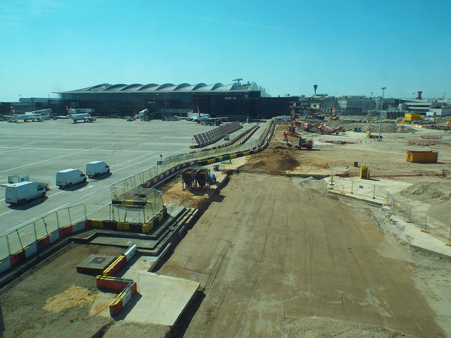 Construction work at Heathrow Airport