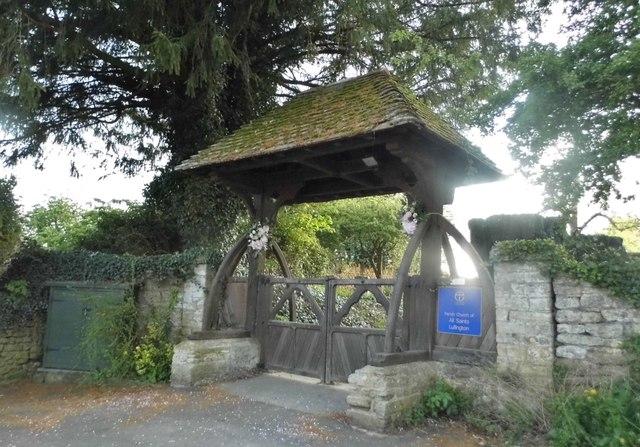 The entrance to All Saints Church, Lullington
