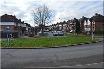TQ1967 : Roundabout, Elmbridge Avenue by N Chadwick