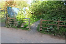 SX9066 : Access to Nightingale Park from Barton Hill Way by John C