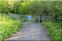 SX9066 : Nightingale Park entrance off Broomhill Way by John C