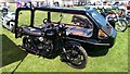 ST9769 : Motorcycle hearse, Bowood Estate, Derry Hill, Calne by Brian Robert Marshall
