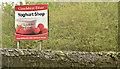 J4778 : Clandeboye Estate Yoghurt Shop sign, Clandeboye, Bangor (May 2018) by Albert Bridge