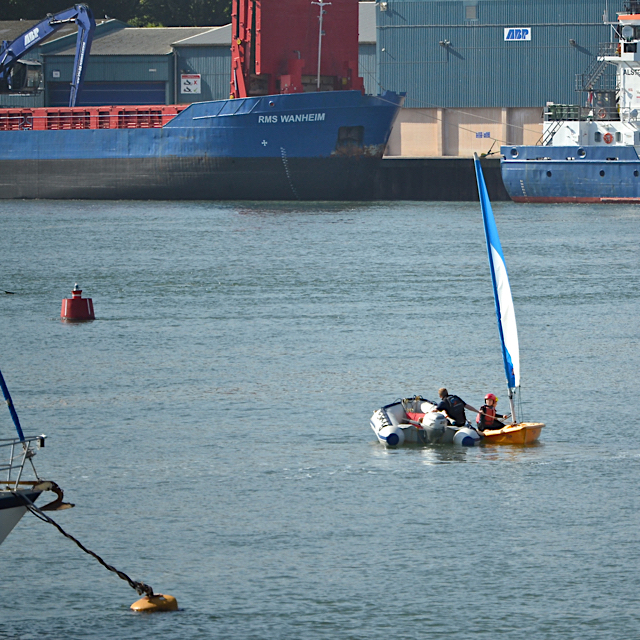 A helping hand for a novice sailor, Teignmouth harbour
