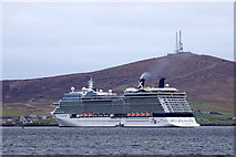 HU4841 : The cruise ship Celebrity Eclipse in Lerwick harbour by Mike Pennington