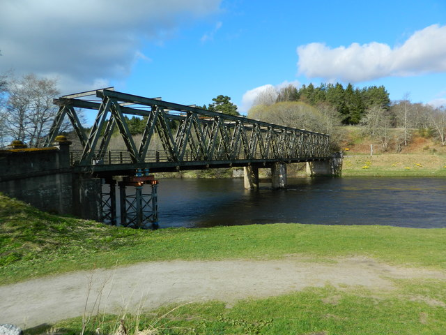 Road bridge over the River Spey at Cromdale