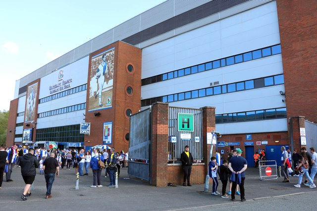 The entrance to the Blackburn End Stand at Ewood Park