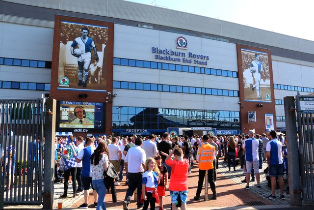 The rear of the Blackburn End Stand at Ewood Park