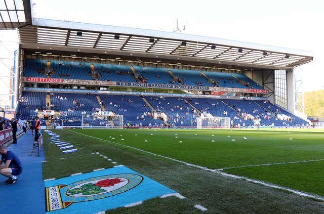 The Ronnie Clayton Blackburn End Stand at Ewood Park