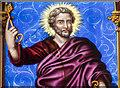 SK9799 : Enamel painted glass, St Andrew's church, Redbourne by Julian P Guffogg