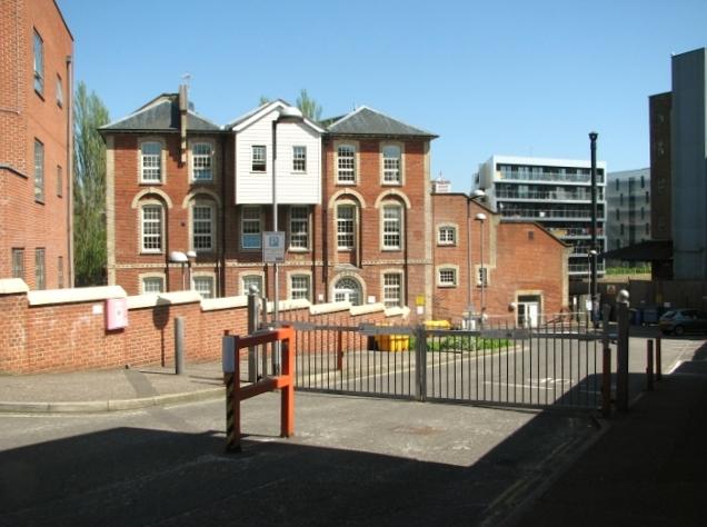 Converted industrial buildings in Paper Mill Yard