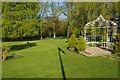 SJ2767 : The garden - Northop Hall Country House Hotel by Stephen McKay