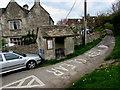 SO8501 : Amberley Inn bus shelter, Amberley by Jaggery