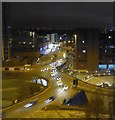 SP0586 : Five Ways roundabout & Ladywood Middleway at night by Rob Farrow