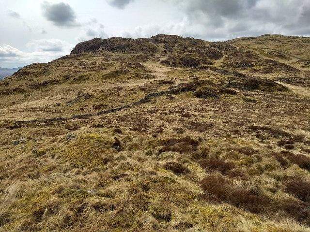 The broad summit ridge of Craig y Benglog