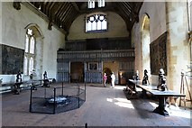 TQ5243 : Penshurst Place, Baron's Hall: Looking towards the minstrels' gallery by Michael Garlick