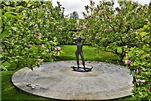 TQ5243 : Penshurst Place: The Naiad Statue in the Magnolia Garden 1 by Michael Garlick