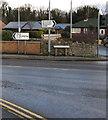 SJ3056 : Wrexham Road direction signs near Abermorddu, Flintshire by Jaggery