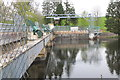 NS8840 : Weir on the River Clyde, Bonnington by Jim Barton