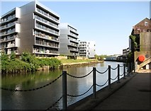 TG2407 : Modern blocks of flats by the River Wensum by Evelyn Simak