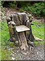 SD3677 : Tree trunk seat in Holker Hall Park by Oliver Dixon