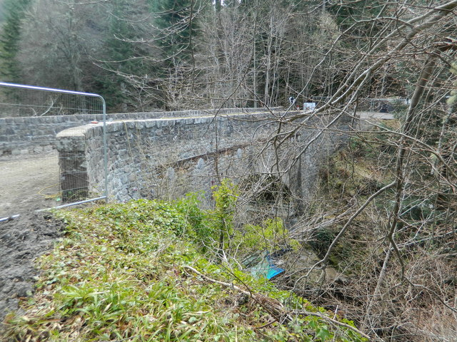 Bridge of Logie, closed for repairs