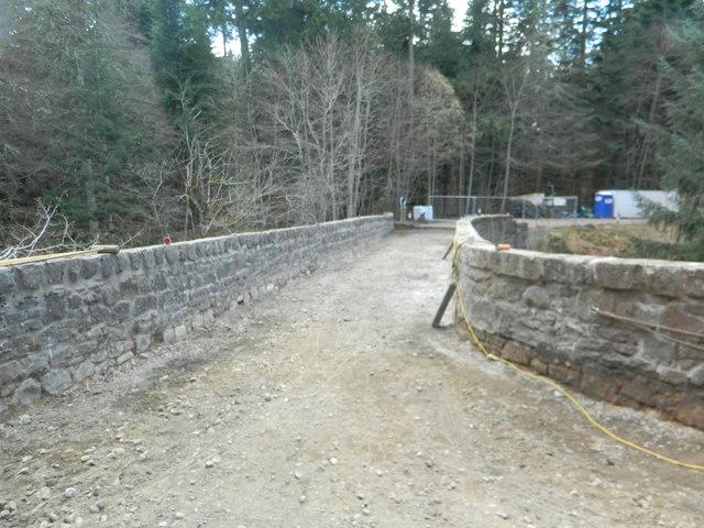 Bridge of Logie, closed for repairs