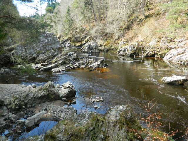 The River Findhorn near Logie Steading