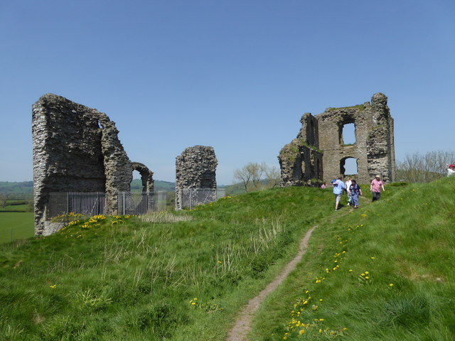 Part of Clun Castle in May