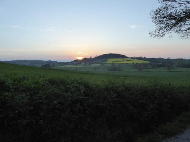 May sunset near Billings Ring, Shropshire