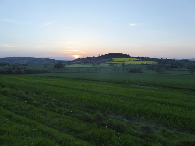 Sunset in May at Plowden, Shropshire
