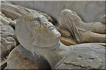 SO3958 : Pembridge, St. Mary the Virgin Church: c14th 'Gour' tomb bearing four effigies 5 by Michael Garlick