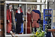 SO3958 : Pembridge, St. Mary the Virgin Church: Pembridge effigies and costumes around the 1300s by Michael Garlick