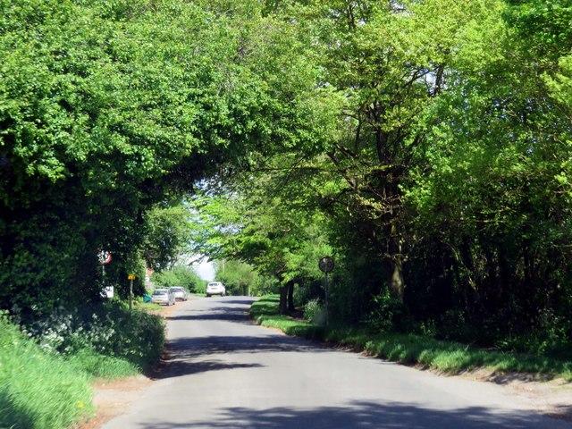 Heyford Road entering Steeple Aston