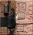 TG2308 : 169 King Street -parish boundary markers by Evelyn Simak
