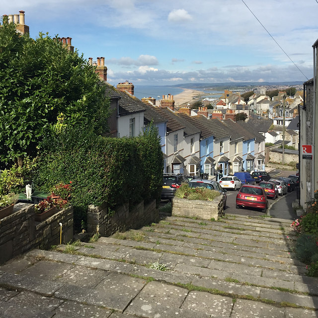 Looking down Belle Vue Terrace, Fortuneswell, Portland
