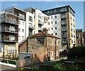 TG2307 : Cottage dwarfed by block of flats : Week 19