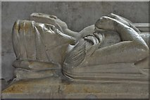 SO3958 : Pembridge, St. Mary the Virgin Church: c14th 'Gour' tomb bearing four effigies 8 by Michael Garlick