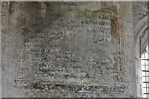 SO3958 : Pembridge, St. Mary the Virgin Church: c17th mural writings 1 by Michael Garlick