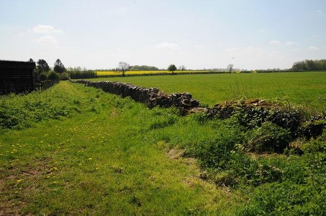 Farmland north of Fosscross Lane