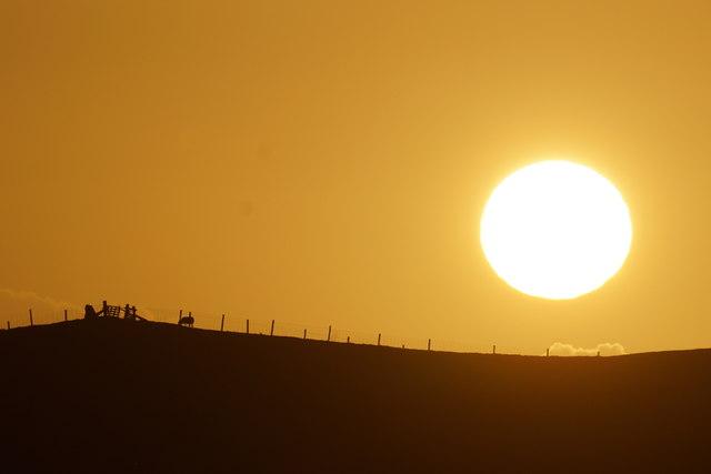 Setting sun at Westing
