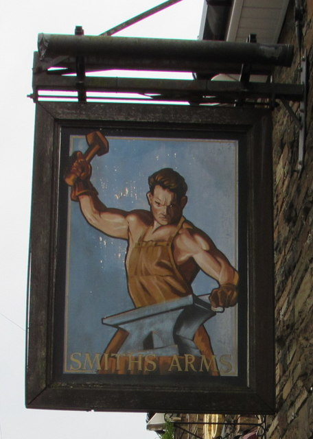 Smiths Arms name sign, Pengam by Jaggery