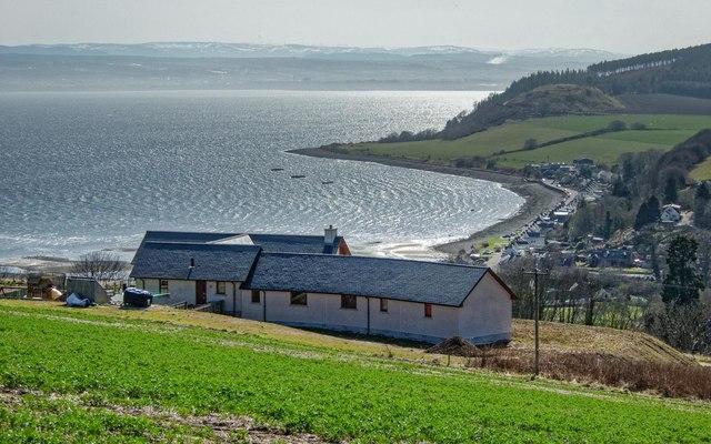 New housing overlooking Avoch Bay