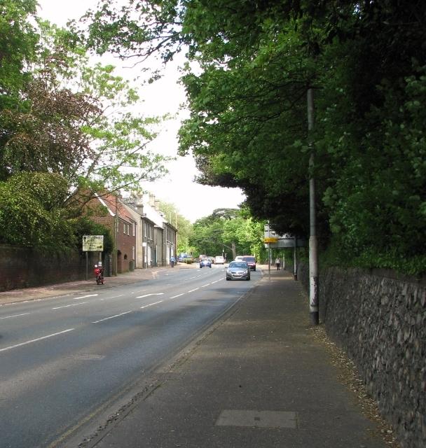 View along Bracondale