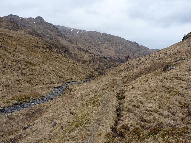 Stalkers' path in Gleann Unndalain