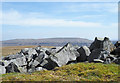 NY7729 : Boulders at summit area of Meldon Hill by Trevor Littlewood