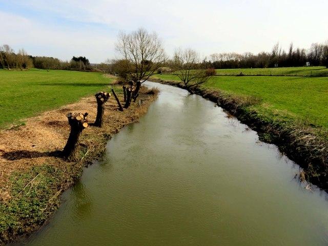 The River Ouzel in Milton Keynes