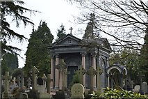 TQ5937 : Mauseleum, Kent & Sussex Cemetery by N Chadwick