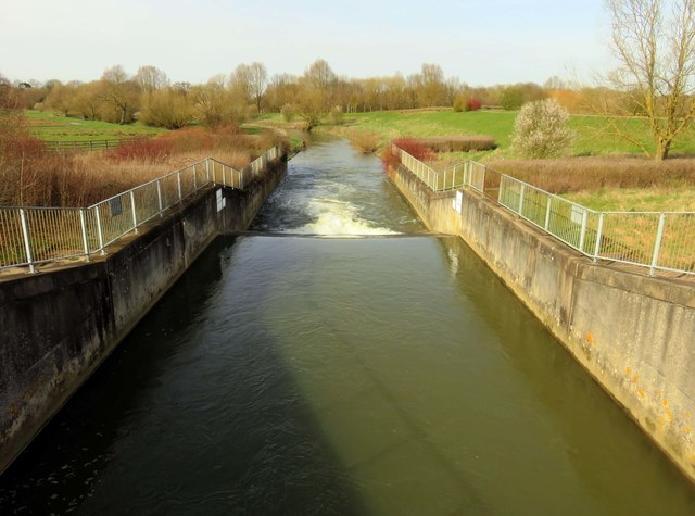 A weir on the River Ouzel